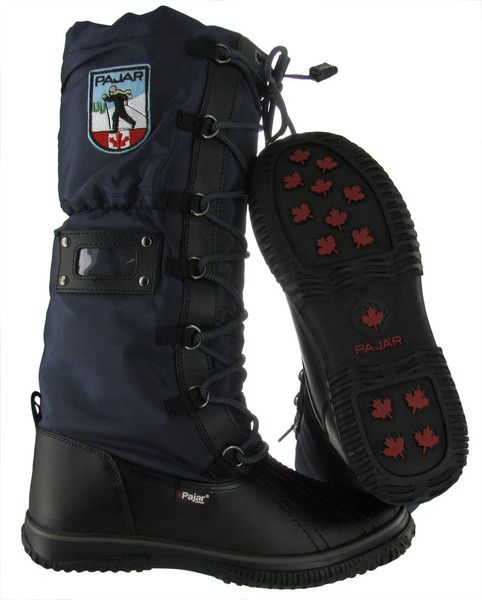 Black/Navy Pajar Grip Women's Snow Boots Waterproof Outdoor Winter | Streetmoda. More Pajar Winter boots for men & women at Streetmoda http://www.streetmoda.com/collections/pajar