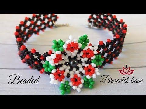 Bracelet with 3D beaded flower - tutorial (part 2) - YouTube