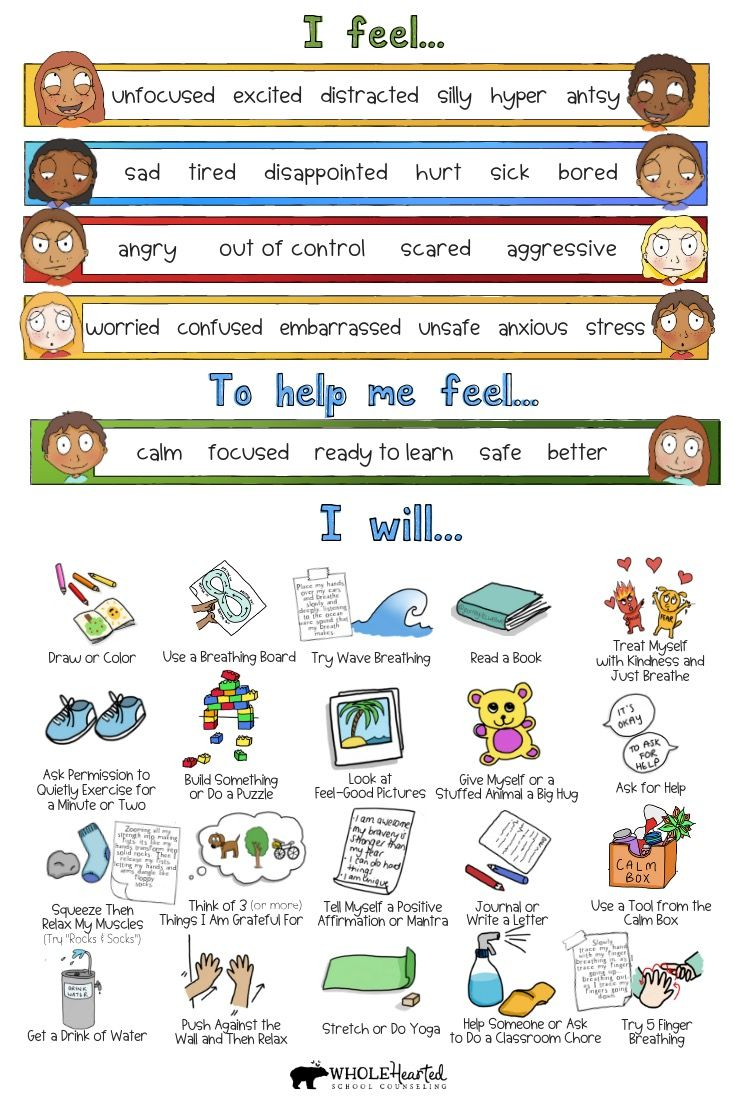 Calm Down Corner School Home Behavior Management Coping Tool