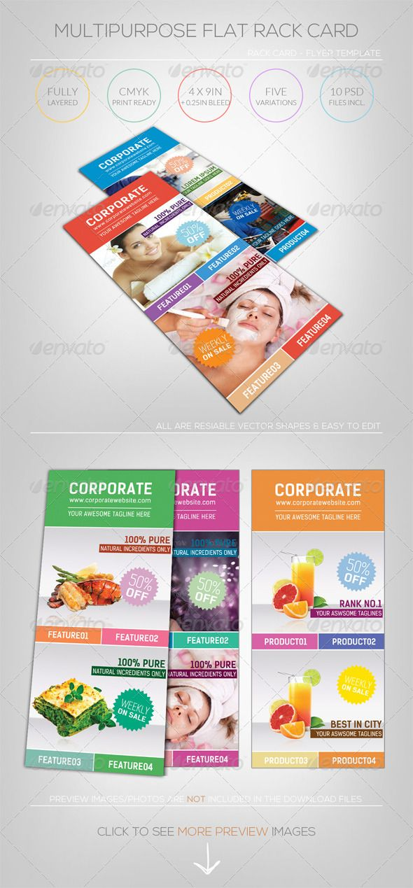 100 best Print Templates images on Pinterest Print templates - rack card template