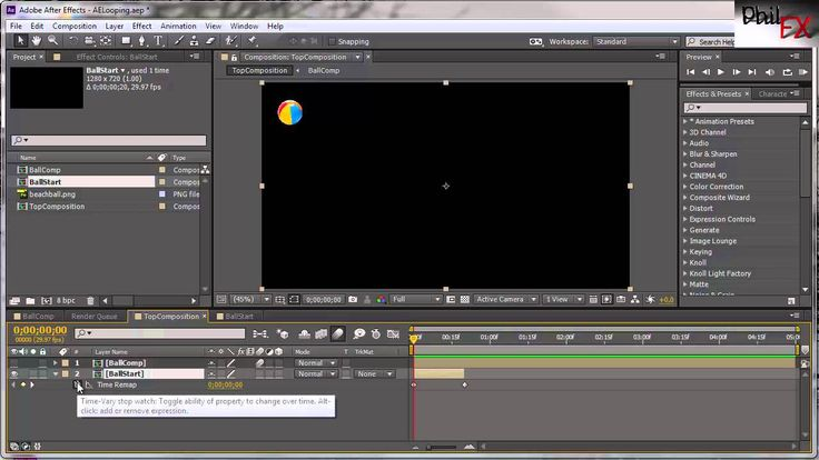 After Effects Looping Precomps