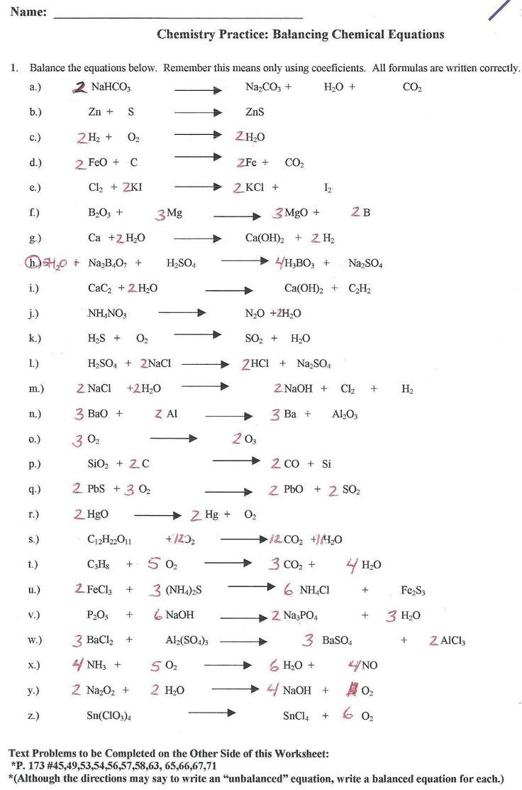 Balancing Chemical Equations Worksheet With Answers Grade 10 Unique Predicting Products And Balancing Word Equ Chemical Equation Equations Chemistry Worksheets [ 1113 x 736 Pixel ]