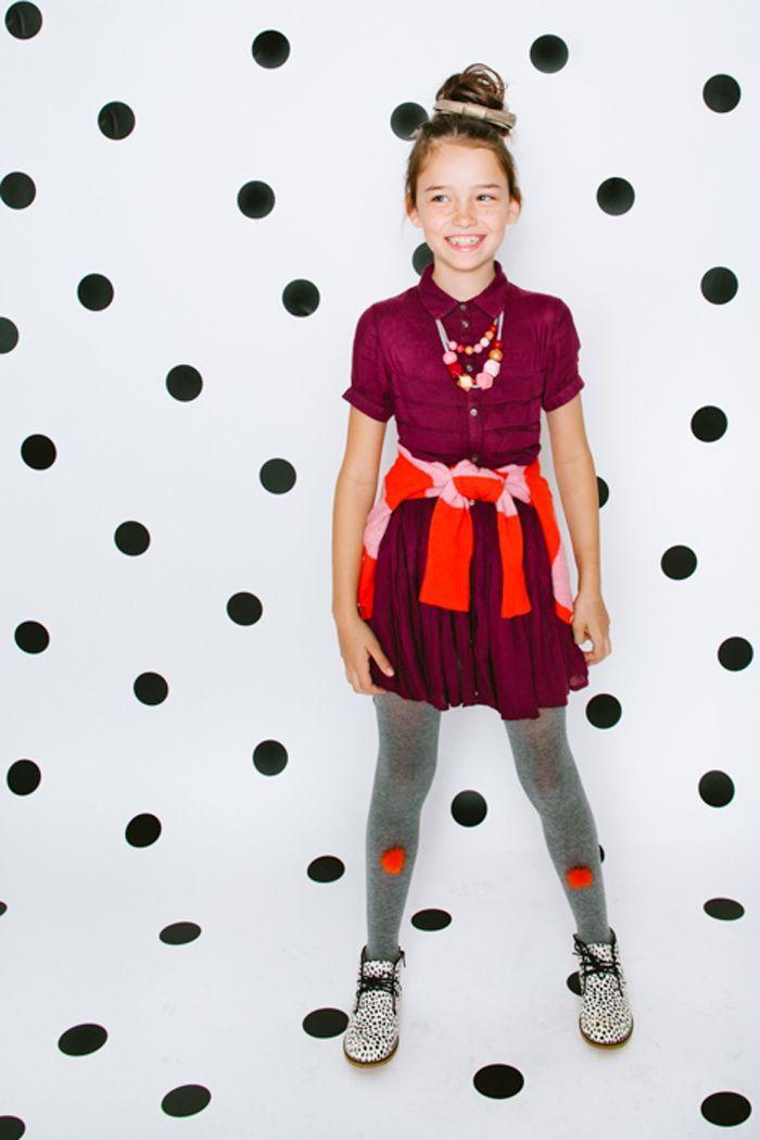 Fashionkins // Sparkly Season | Babiekins Magazine feat. cardigan ARIA, pom pom tights grey, boots MELISSA