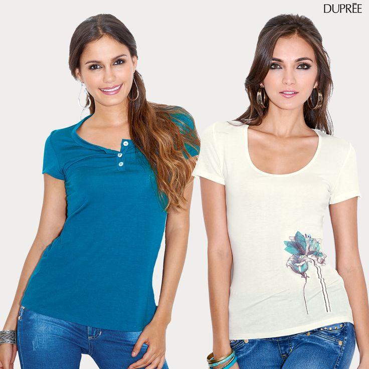 ¿Estilo casual? Usa nuestras camisetas de nueva colección. ¡Hermosas y cómodas!