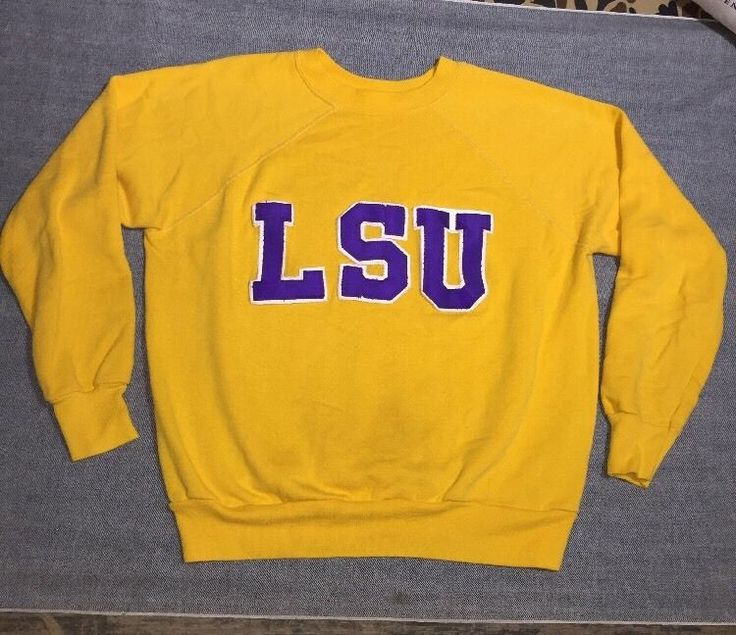 vintage 60's Raglan LSU Sweatshirt USA college soft M L #Unbranded