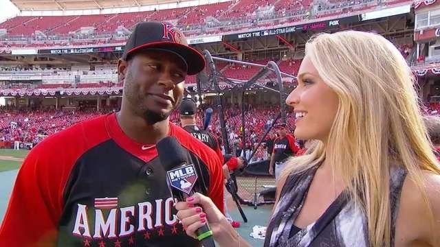 Lorenzo Cain talks to Heidi Watney on MLB Tonight