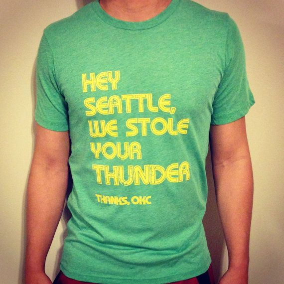 Hey Seattle we stole ur Thunder tee by YOStees on Etsy, $23.99