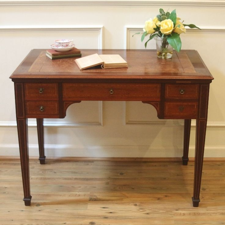 Inlaid Leather Top Ladies Writing Table, Desk.  Interesting Furniture ...