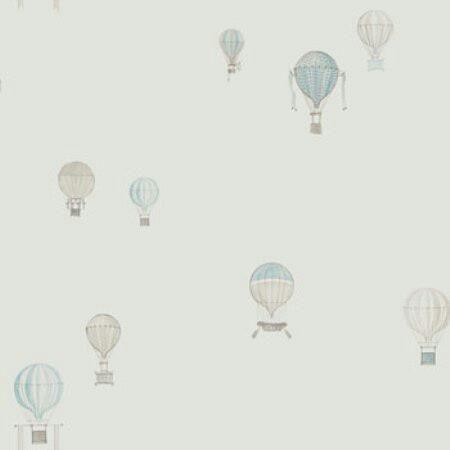 Papel con globos en tonos claros.
