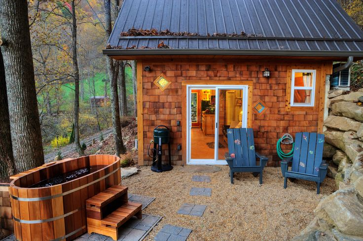 Explore the outdoors around Asheville in style with these cabins, cottages, and yurts that offer luxurious amenities in natural settings.