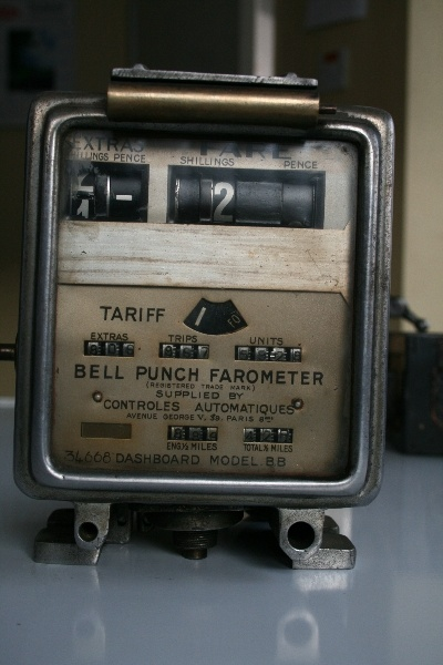 Taxi meters in the older days...
