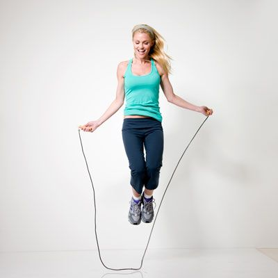 Tip: jumping rope for 15 minutes torches about 190 calories