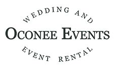 Oconee Events | Athens Wedding + Party Tent Rentals | Farm Tables, Chiavari Chairs, Crossback Chairs