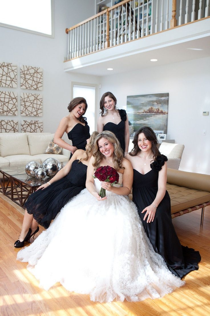 251 best red black and white wedding images on pinterest the color of bridesmaid dress is beautifuland with white wedding dressred wedding ombrellifo Image collections