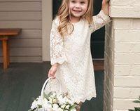 Ivory Lace Dress for Toddler or Little Girls Rustic Vintage Flower Girl Dress #summerwedding #springwedding #birthdaydress  #fallwedding #winterwedding #flowergirl #flowergirldress #rusticwedding #lace #ad #ss