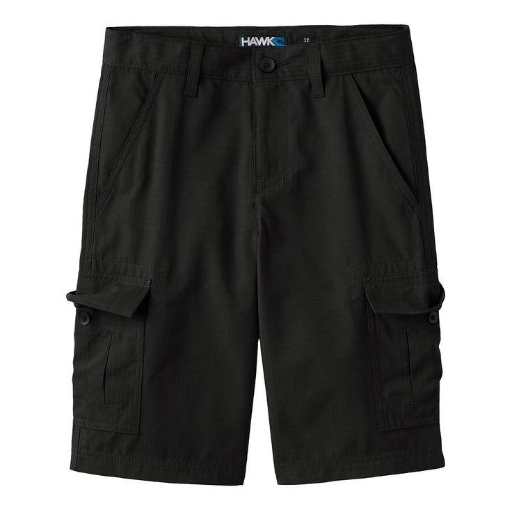 Boys 8-20 Tony Hawk® Ripstop Cargo Shorts, Size: 10, Black