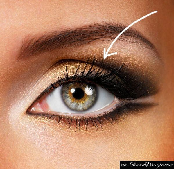 Try This If You Have Deep Set Eyes.  To determine this as your eye then first have a look on the inner corners of the eyes that appears to be having more eyelids than the outer corners of the eyes. Such eye clearly shows the eyelid line is below the eyebrow.