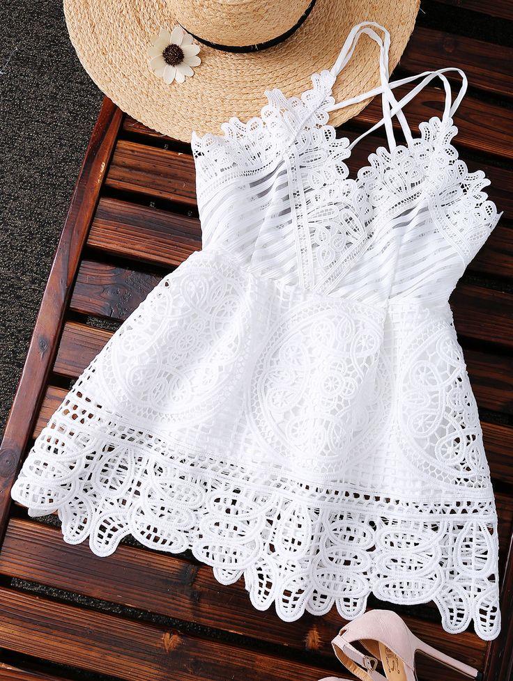 Peplum Camisole Crochet Top