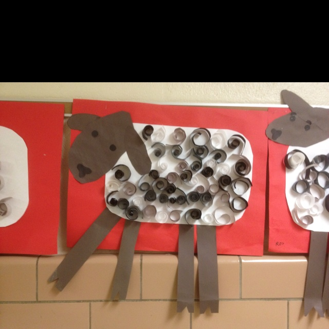 1st grade art project- in like a lion, out like a lamb!