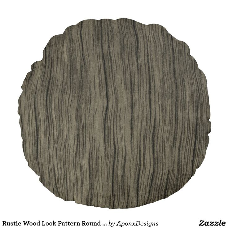 Rustic Wood Look Pattern Round Pillow