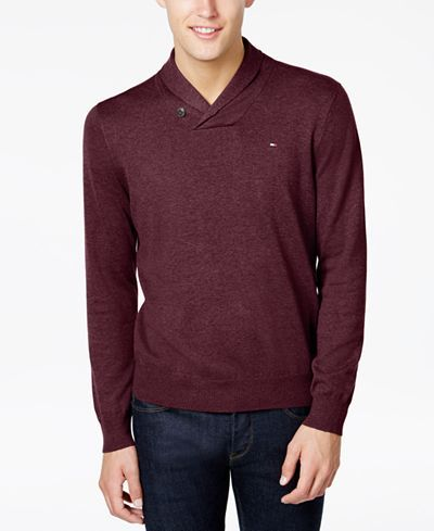 Tommy Hilfiger Men's Springfield Shawl-Collar Sweater - Sweaters - Men - Macy's