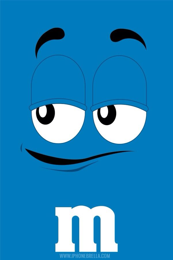 Blue M&M background