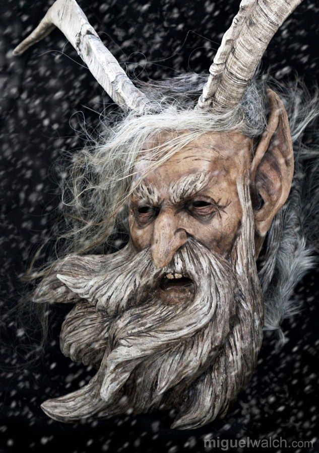 Miguel Walch wooden masks | Krampus masks
