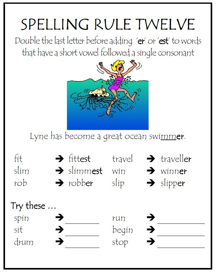present continuous spelling rules pdf