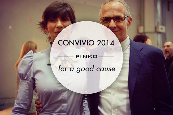 #PINKO #charity #convivio #convivio2014 #anlaids Cristina Rubini and Pietro Negra