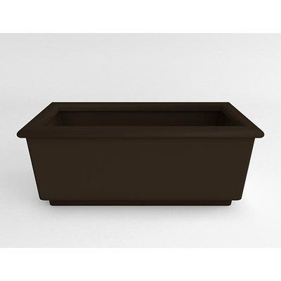 TerraCastProducts Roma Resin Planter Box Color: Cocoa Brown