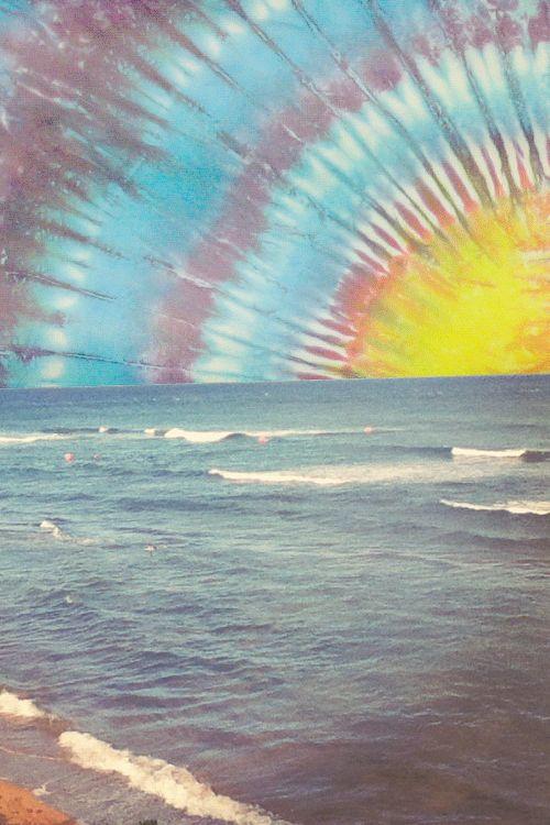 tie dye mixed media/sun
