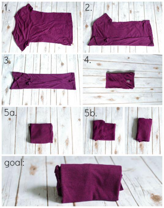 Pliage des vêtements