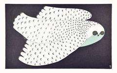 Midnight Owl by Ningeokuluk Teevee.Cape Dorset Inuit Print