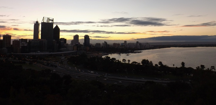 Sunrise over Perth city May 2013