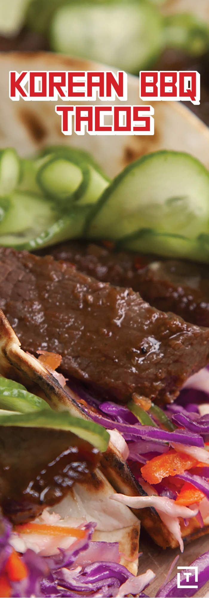 For those of you who haven't heard, Korean barbecue is absolutely delicious. Take a minute to educate yourself -- or just take our word for it -- and then, if you're still hesitant, make the following recipe by Food Steez for Korean barbecue tacos, providing you a familiar delivery system for your newly honed Korean BBQ expertise.