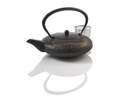 Imperial dragon cast iron teapot gold black anna 39 s old wish list pinterest black - Cast iron teapot dragon ...