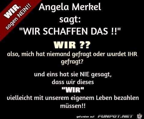 lustiges Bild 'Angela Merkel sagt....jpg' von Versaflow. Eine von 61029 Dateien in der Kategorie 'Lustiges' auf FUNPOT.