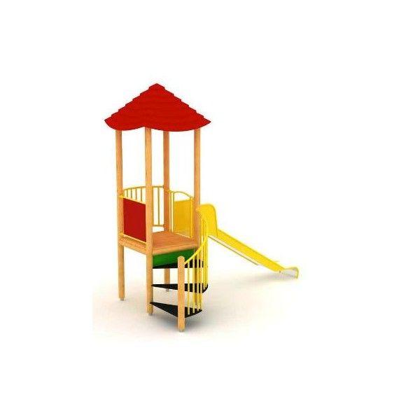 TOBOGÁN Y TORRE DE MADERA. USO PÚBLICO. GTU 120109A KK, IndalChess.com Tienda de juguetes online y juegos de jardin