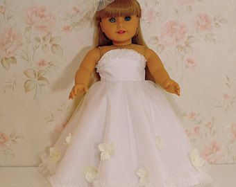 flower princess dress sky blue with hairpin fits American