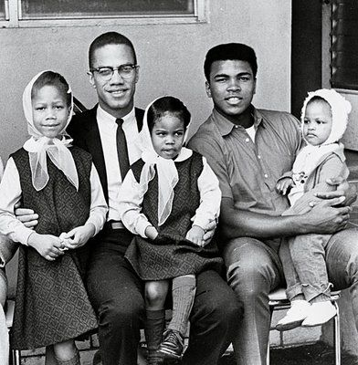 Malcom X and Muhammad Ali I love fathers that love and care for their children. And would sacrifice anything for them.