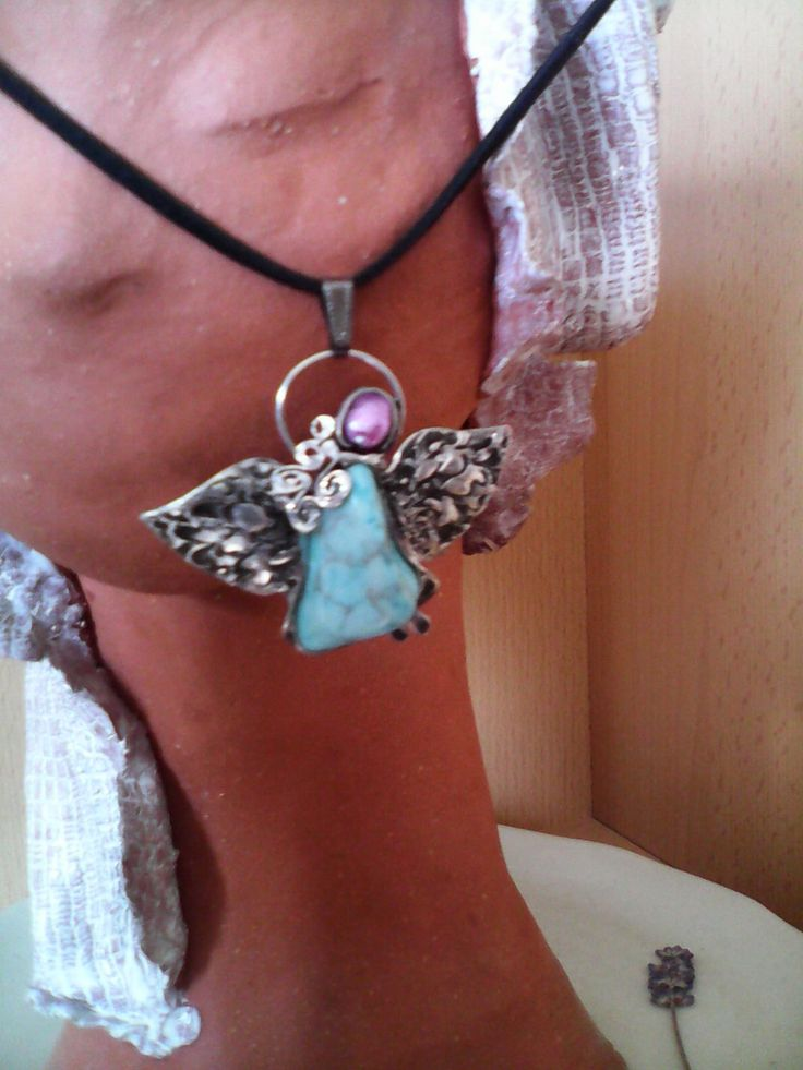 necklase, angel, tin, gemstone https://cz.pinterest.com/shavlov/jewelry-1-my-work/