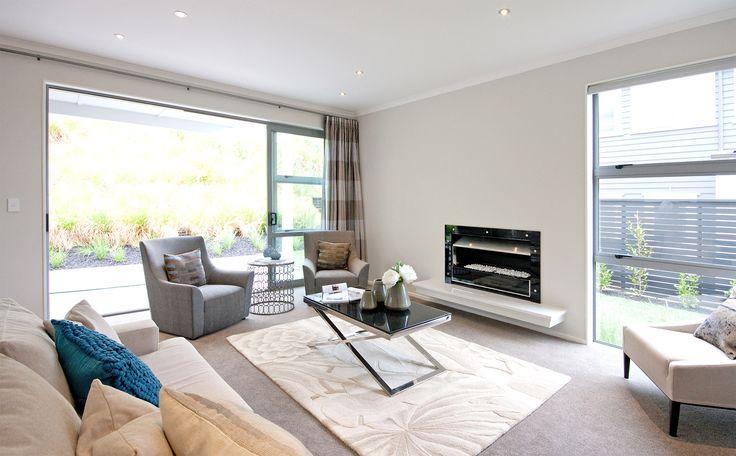 modern minimalist lounge space