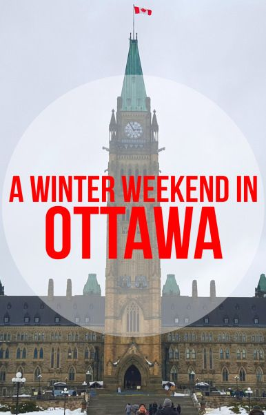 Ottawa, Canada is cold in the winter, but it's still a wonderful place for a weekend visit. Touring the Canadian Parliament and checking out the historic Rideau Canal are worth braving the cold. #Ottawa  | #Canada | #Ontario | #OttawaSenators | #hockey | #DetroitRedWings | #Parliament | #RideauCanal