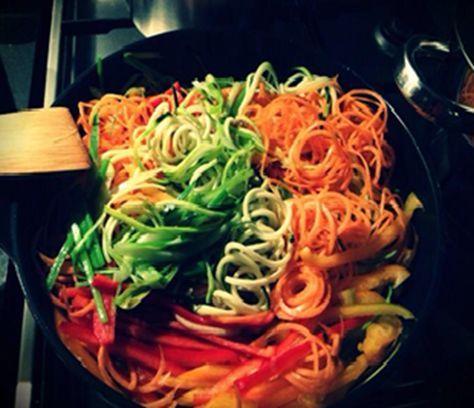 grøntsags-spaghetti