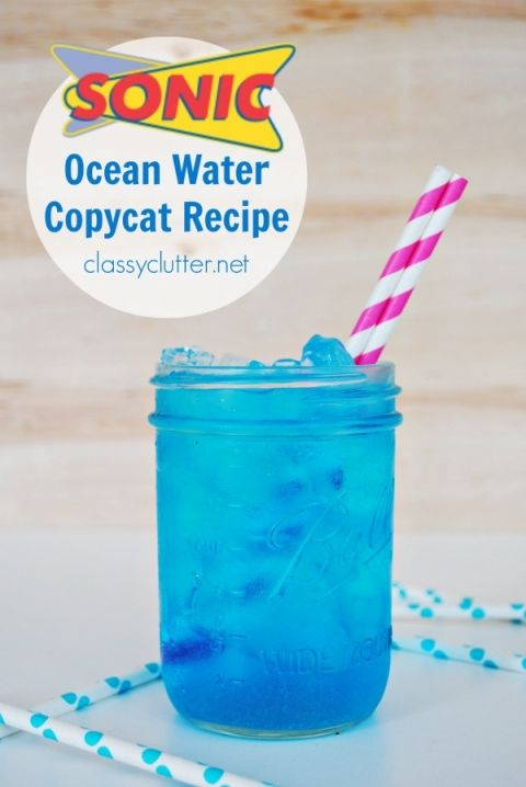 Sonic Ocean Water Copycat Recipe- lemonlime soda and coconut extract ( I would try with so much extra sugar)