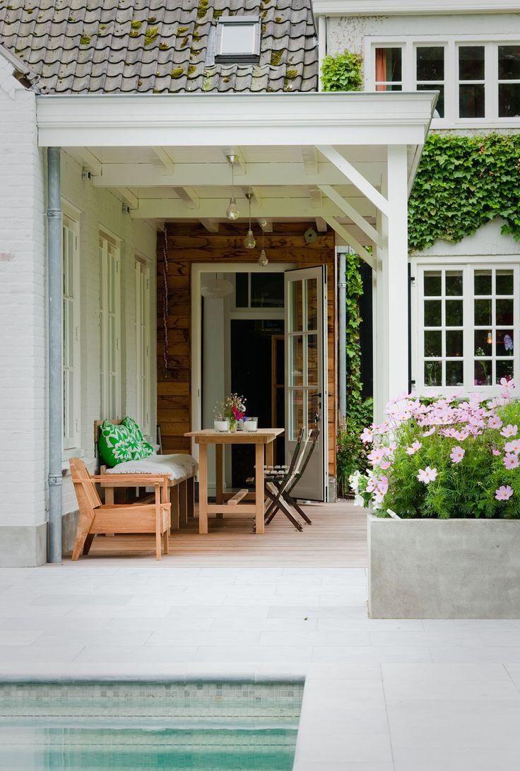25 beste idee n over veranda plafond op pinterest blauw veranda plafond afgeschermde veranda - Overdekt terras in hout ...
