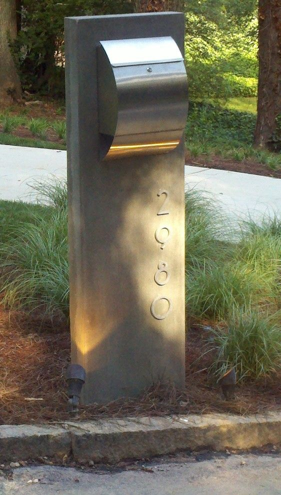 Good Looking residential mailboxes in Spaces Modern with Letterbox Ideas next to Modern Mailbox alongside Concrete Posts and Mailbox Design