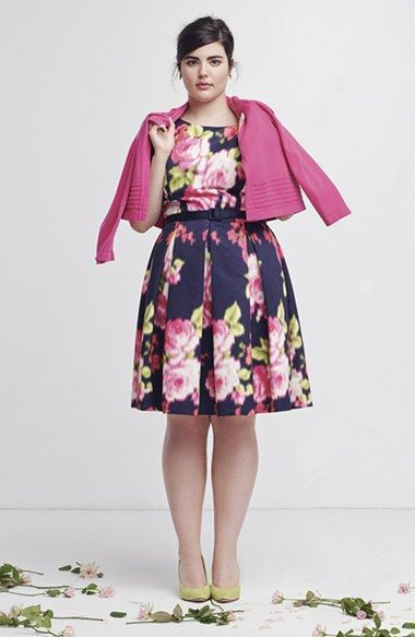 Plus Size Spring Dress - Plus Size Fit & Flare Dress