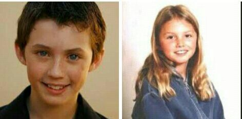 Young Noah and Jude Sweetwine. (portrayed by young troye sivan and hannah murray)