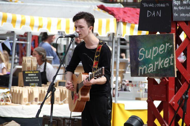 Singer at Altrincham Market